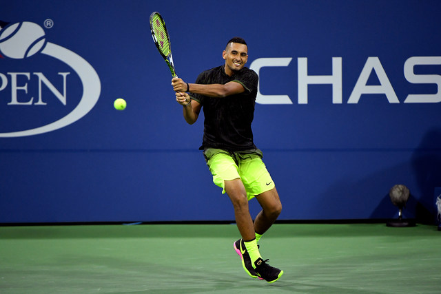 September 01, 2016 - Nick Kyrgios in action against Horacio Zeballos during the 2016 US Open at the USTA Billie Jean King National Tennis Center in Flushing, NY.